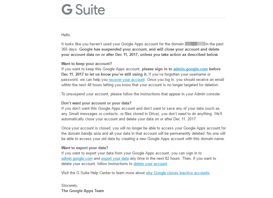 Must read if you don't want to lose your G Suite Free account