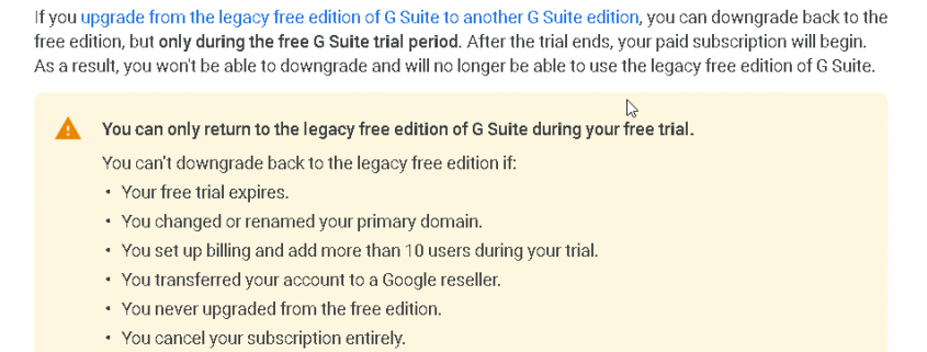 Change the Primary Domain for Google Apps Free account no longer to